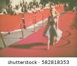 blurred image. red carpet... | Shutterstock . vector #582818353