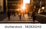 people on street with beautiful ... | Shutterstock . vector #582820243