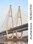 cable stayed bridge and neva... | Shutterstock . vector #582831943