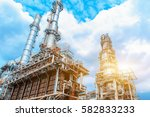close up industrial view at oil ... | Shutterstock . vector #582833233