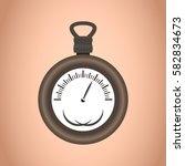 clock icon design. time symbol... | Shutterstock .eps vector #582834673