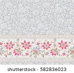 seamless floral pattern. vector ... | Shutterstock .eps vector #582836023
