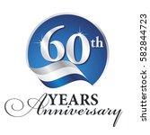 anniversary 60 th years... | Shutterstock .eps vector #582844723