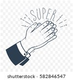 icon clapping hands with the... | Shutterstock .eps vector #582846547