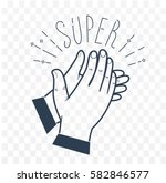 icon clapping hands with the... | Shutterstock .eps vector #582846577