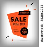 cretive sale banner. red... | Shutterstock .eps vector #582862783