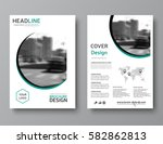 business brochure template.... | Shutterstock .eps vector #582862813