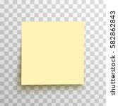 yellow sticky note isolated on... | Shutterstock .eps vector #582862843