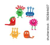 a collection of a colorful... | Shutterstock .eps vector #582864607