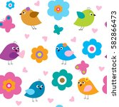 seamless pattern with a cute...   Shutterstock . vector #582866473
