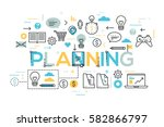 creative infographic banner... | Shutterstock .eps vector #582866797