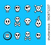 Skull Icon Set   Vector...