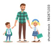 family lifestyle. father take... | Shutterstock .eps vector #582871333