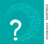 question mark poster. ... | Shutterstock . vector #582876013