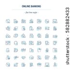 vector graphic set. icons in... | Shutterstock .eps vector #582882433