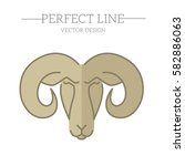 sheep vector line  symbol  logo ... | Shutterstock .eps vector #582886063