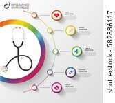 medical and health infographics.... | Shutterstock .eps vector #582886117