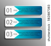 set of paper banners   tags for ... | Shutterstock .eps vector #582887383