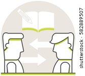 private tutoring   infographic... | Shutterstock .eps vector #582889507