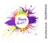 bright and colorful happy holi... | Shutterstock .eps vector #582890443