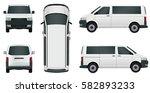 white passenger minivan on a... | Shutterstock .eps vector #582893233
