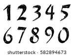 grunge numbers set.vector... | Shutterstock .eps vector #582894673