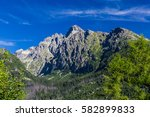 view of the mountain lomnicky... | Shutterstock . vector #582899833