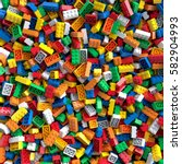 Colored Toy Bricks Background....