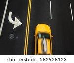 road markings on asphalt on the ... | Shutterstock . vector #582928123