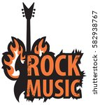banner for rock music with... | Shutterstock .eps vector #582938767