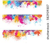 set of banners from color paint ... | Shutterstock .eps vector #582939307