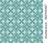 seamless floral pattern for...   Shutterstock .eps vector #582945487
