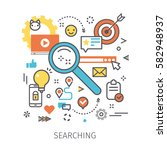 concept of searching and... | Shutterstock .eps vector #582948937