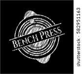 bench press on chalkboard | Shutterstock .eps vector #582951163
