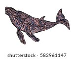 abstract whale. | Shutterstock .eps vector #582961147