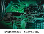 circuit board. electronic... | Shutterstock . vector #582963487