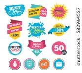 sale banners  online web... | Shutterstock .eps vector #582964537