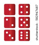 set of vector dices. | Shutterstock .eps vector #582967687