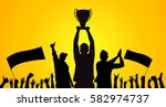 background with cheering... | Shutterstock .eps vector #582974737