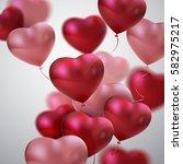 Balloon Hearts. Vector Holiday...