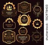 set of vector label templates... | Shutterstock .eps vector #582978403