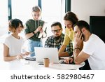 business people are... | Shutterstock . vector #582980467