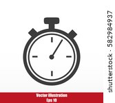 timer vector  icon | Shutterstock .eps vector #582984937