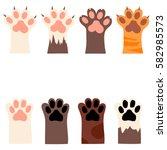 original trendy  set with cats... | Shutterstock . vector #582985573