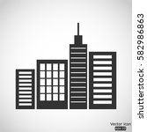city silhouette vector icon | Shutterstock .eps vector #582986863