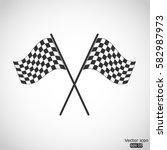 racing flag icon   vector ... | Shutterstock .eps vector #582987973