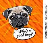 Pug Dog. Who Is A Good Boy....