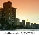 sunrise hotels waikiki beach | Shutterstock . vector #582996967