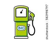 green bio fuel pump vector icon ...   Shutterstock .eps vector #582998797