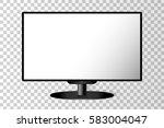 realistic black modern tv...   Shutterstock .eps vector #583004047